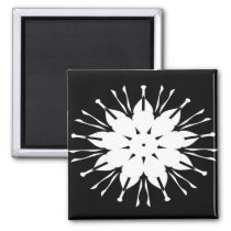 A square refrigerator magnetic buttun magnet