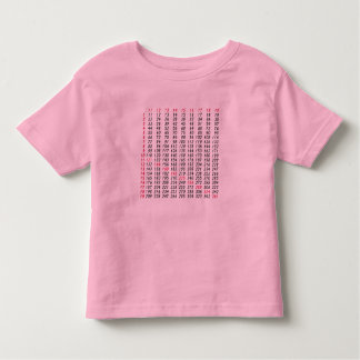 a square root table t-shirt