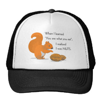 A squirrel's epiphany trucker hat