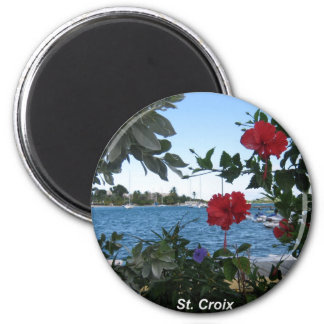 A St. Croix Kind of Day 2 Inch Round Magnet