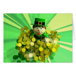 A St. Patrick's Day Gold Bath Card
