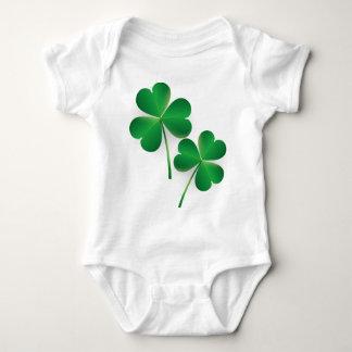 A St. Patrick's Day Green Shamrock Baby Bodysuit