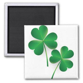 A St. Patrick's Day Green Shamrock Refrigerator Magnet