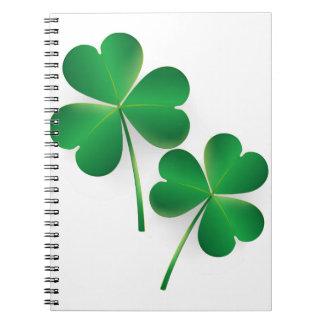 A St. Patrick's Day Green Shamrock Notebook