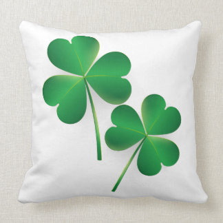 A St. Patrick's Day Green Shamrock Pillow