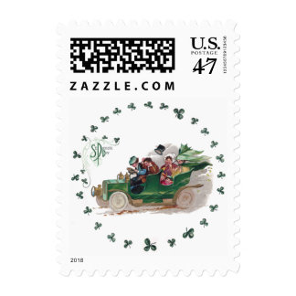A St Patrick's Day Jaunt in Green Convertible Postage