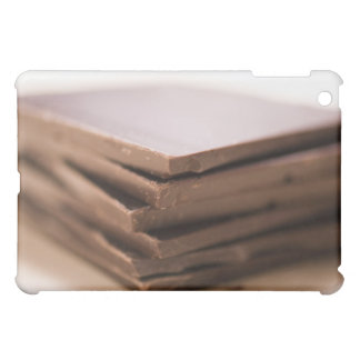 A stack of baker's chocolate ready to be chopped iPad mini cases