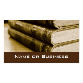 A Stack of Old Books Double-Sided Standard Business Cards (Pack Of 100)
