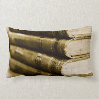 A Stack of Old Books Lumbar Pillow
