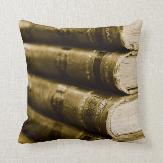 A Stack of Old Books Throw Pillow