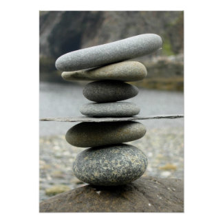 A Stack of Rocks Canvas Print