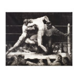 A Stag at Sharkey's - George Bellows Boxing Litho Canvas Print