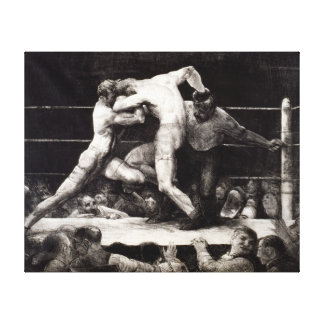 A Stag at Sharkey's - George Bellows Boxing Litho Canvas Prints