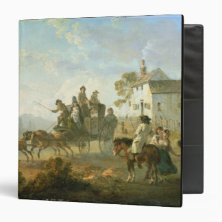 A Stage Coach on a Country Road, 1792 (oil on pane Binder