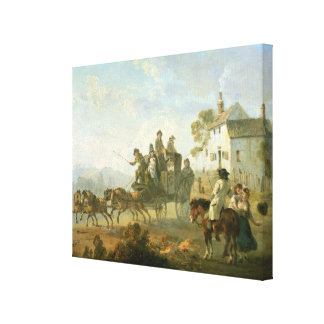 A Stage Coach on a Country Road, 1792 (oil on pane Gallery Wrap Canvas
