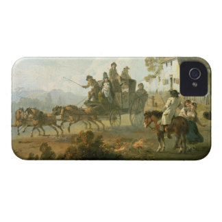 A Stage Coach on a Country Road, 1792 (oil on pane iPhone 4 Cover
