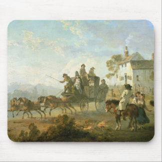 A Stage Coach on a Country Road, 1792 (oil on pane Mouse Pad