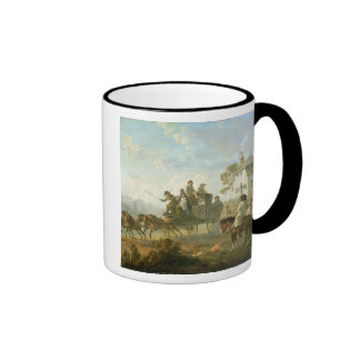 A Stage Coach on a Country Road, 1792 (oil on pane Coffee Mugs