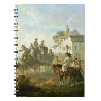 A Stage Coach on a Country Road, 1792 (oil on pane Notebook