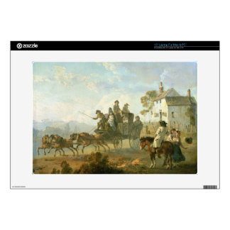 "A Stage Coach on a Country Road, 1792 (oil on pane 15"" Laptop Skins"