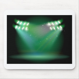 A stage with spotlights mouse pad