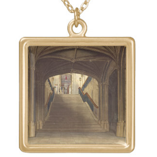 A Staircase, Windsor Castle, from 'Royal Residence Gold Plated Necklace