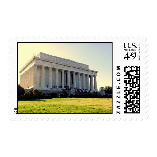 A Stamp of the Lincoln Memorial
