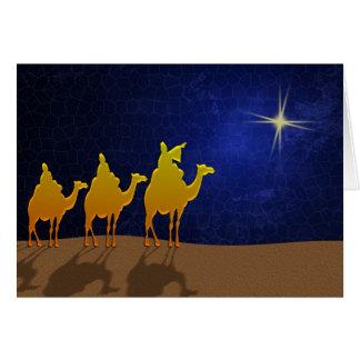 A star .. a star ... shining in the night card