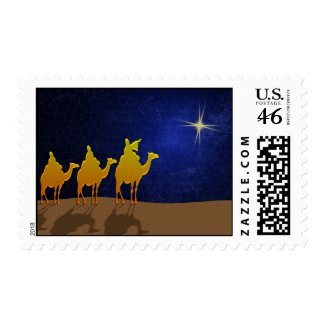 A star ... a star shining in the night stamp
