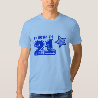 A Star at 21 BLUE PLAID Birthday Gift Collection T-shirt