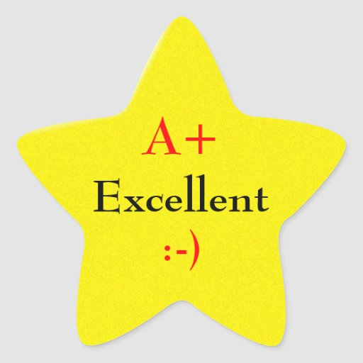 A Star For Excellence Star Stickers