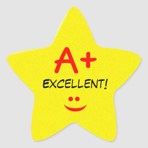 A Star For Excellence Sticker