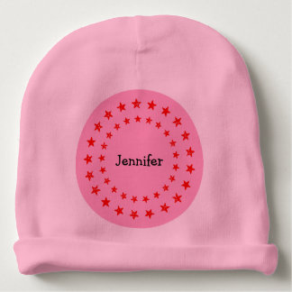 A Star Has Arrived Red Pink Custom Baby Girl Name Baby Beanie