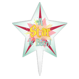 """A Star Is Born"" - 2 Cake Topper"