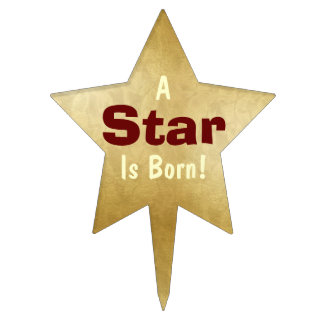 """""""A Star Is Born"""" 2 Star Cake Topper"""