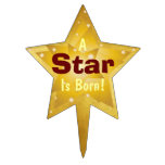 """""""A Star Is Born"""" - 4 Cake Topper"""