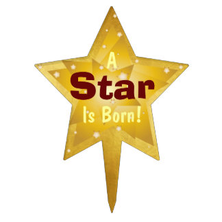 """A Star Is Born"" - 4 Cake Topper"
