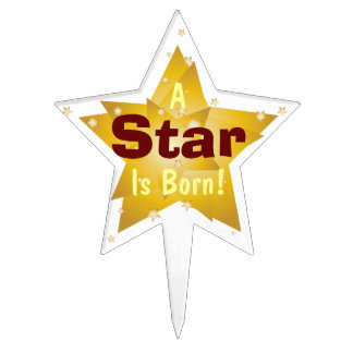 """""""A Star Is Born"""" - 4 Cake Toppers"""