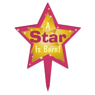 """A Star Is Born"" - 5 Cake Topper"