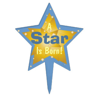 """A Star Is Born"" - 6 Cake Topper"