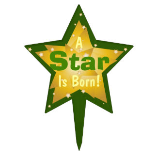 """A Star Is Born"" - 8 Cake Topper"