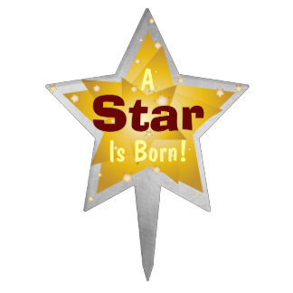 """A Star Is Born"" - 9 Cake Topper"