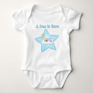 A Star is Born  Baby Boy Baby Bodysuit