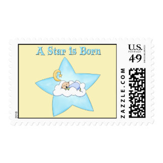 A Star is Born  Baby Boy Stamp