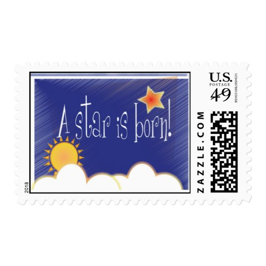 A star is born! postage