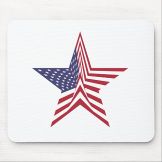 A Star With An American Flag Pattern Mouse Pad