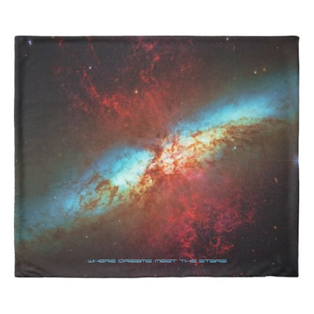 A Starburst Galaxy M82 - Sleep with the stars Duvet Cover