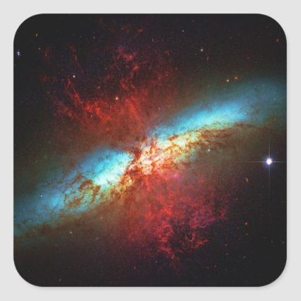 A Starburst Galaxy - Messier 82 (Cigar Galaxy) Sticker