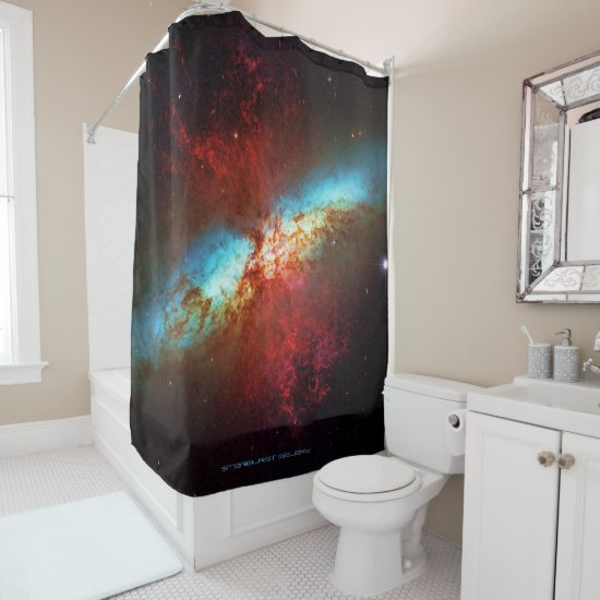 A Starburst Galaxy - Showering with the stars Shower Curtain