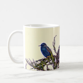 A Starling Bird Couple Coffee Mugs